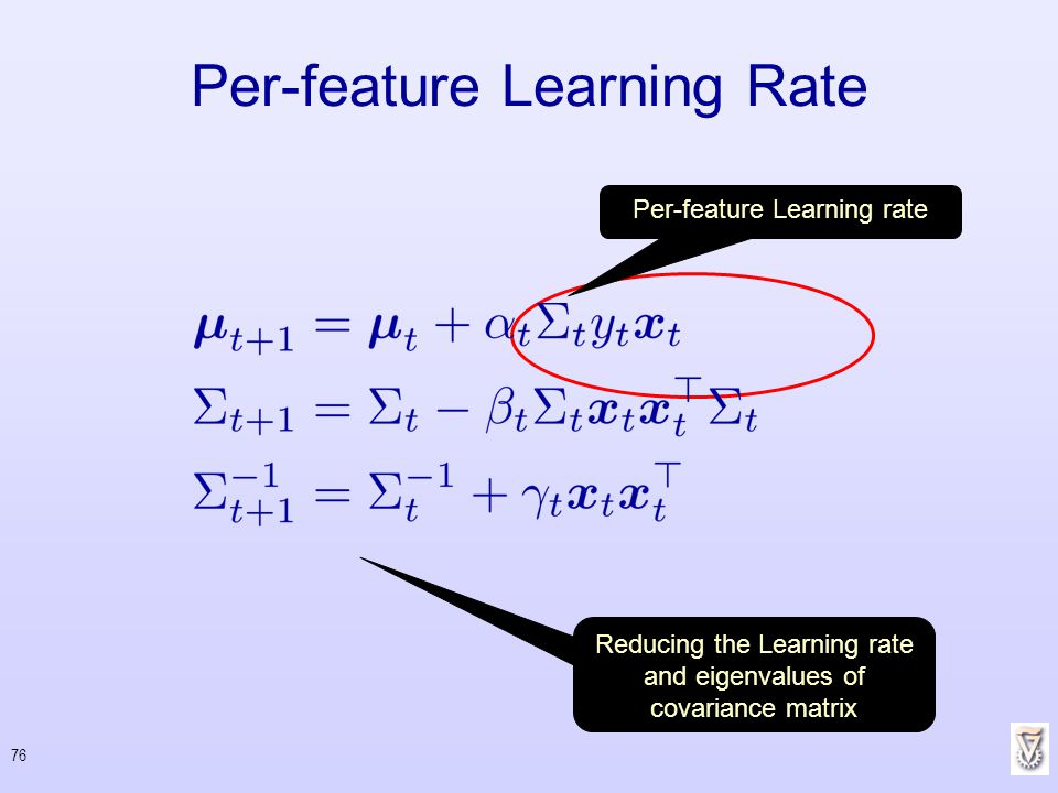 Per-feature Learning Rate