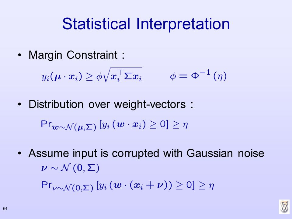 Statistical Interpretation