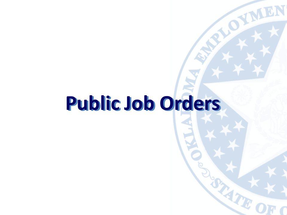 Public Job Orders
