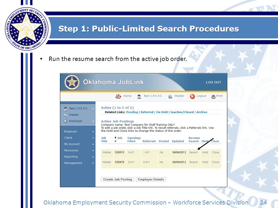 Step 1: Public-Limited Search Procedures