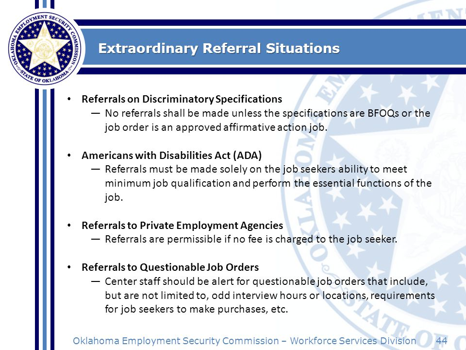 Extraordinary Referral Situations