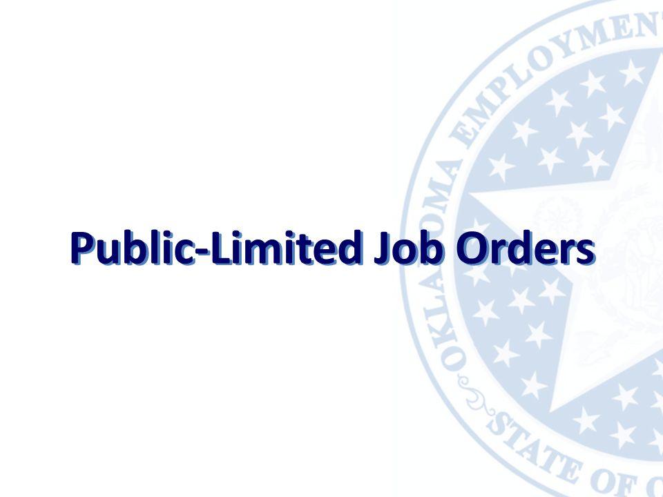Public-Limited Job Orders