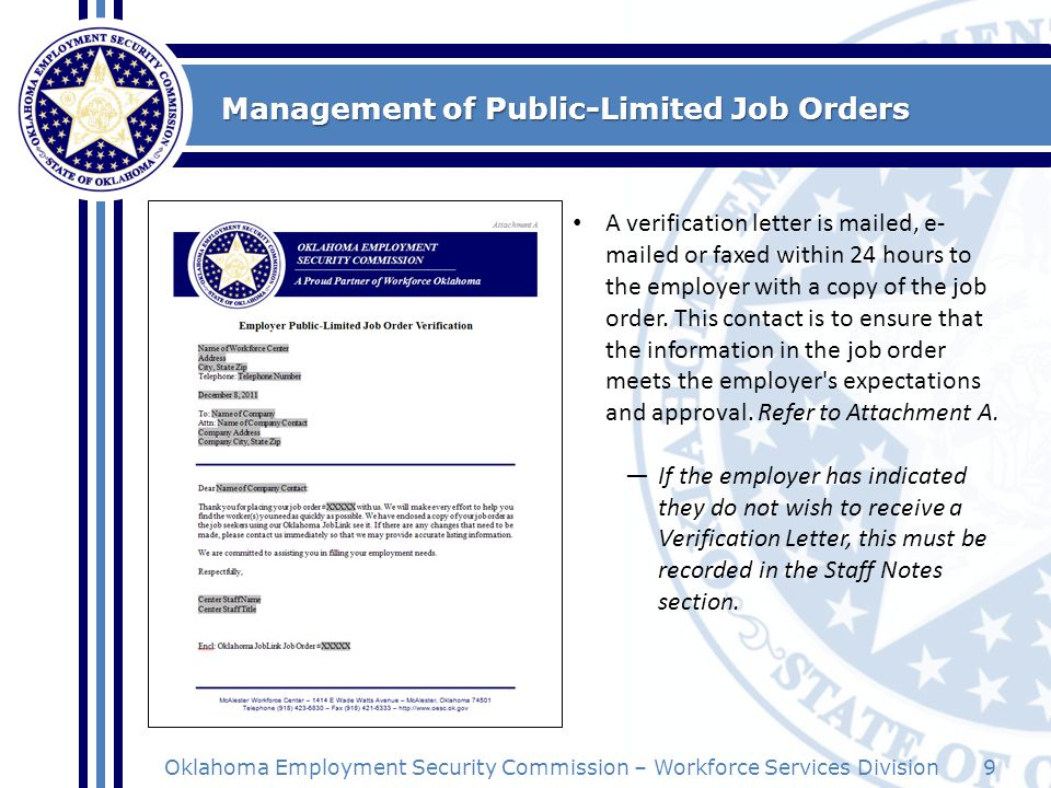 Management of Public-Limited Job Orders