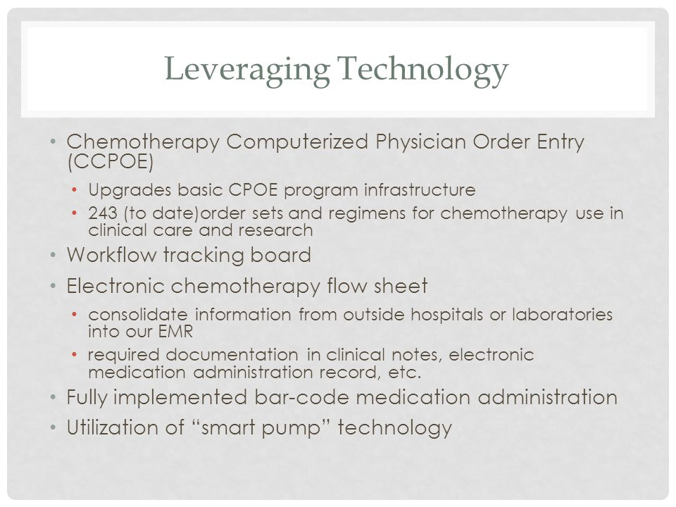 Leveraging Technology