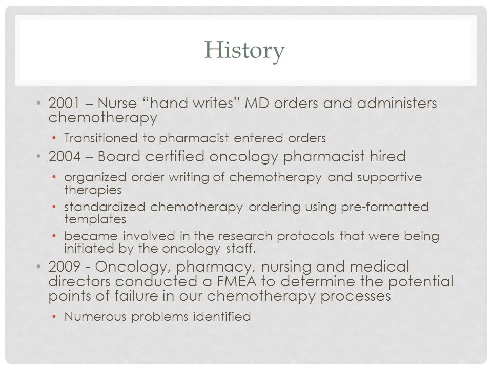 Pharmacist directed chemotherapy care navigation ppt for Chemotherapy order templates