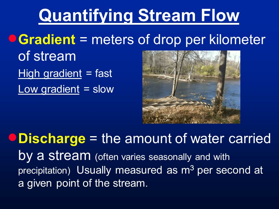Quantifying Stream Flow