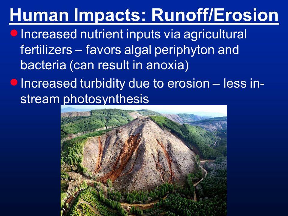 Human Impacts: Runoff/Erosion