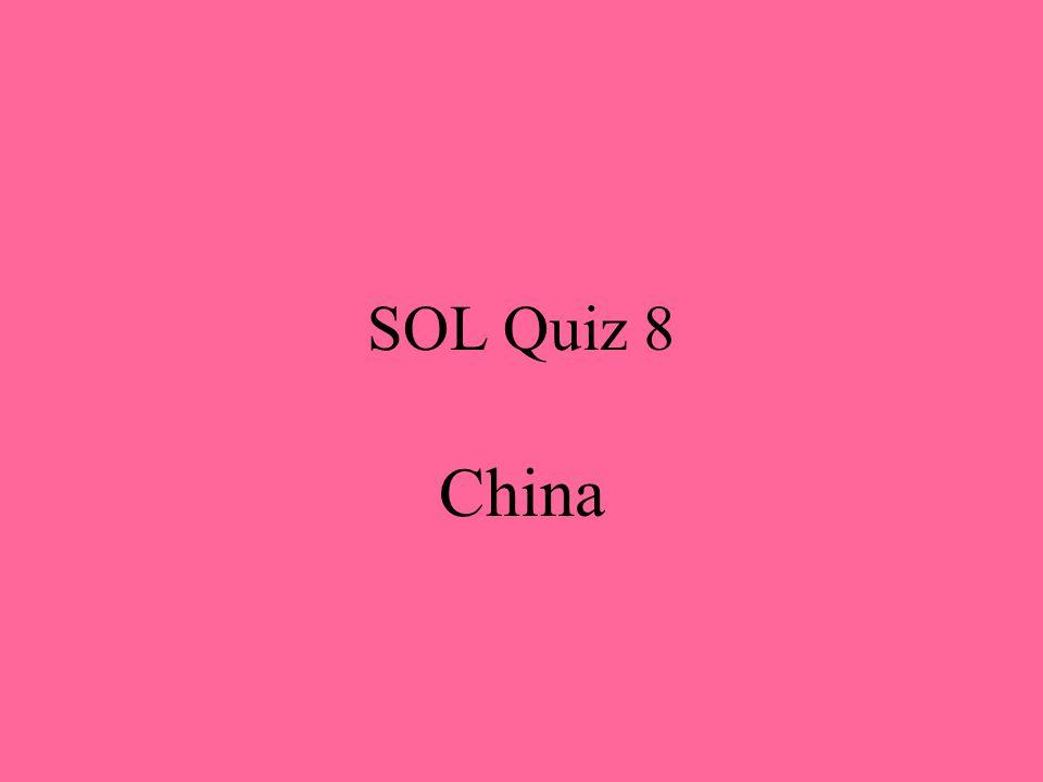SOL Quiz 8 China
