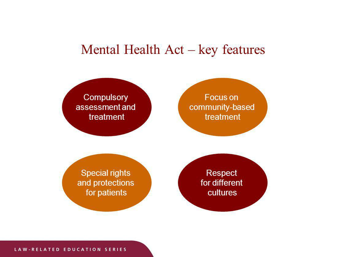 Mental Health Act – key features