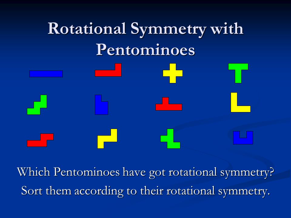 Rotational Symmetry with Pentominoes