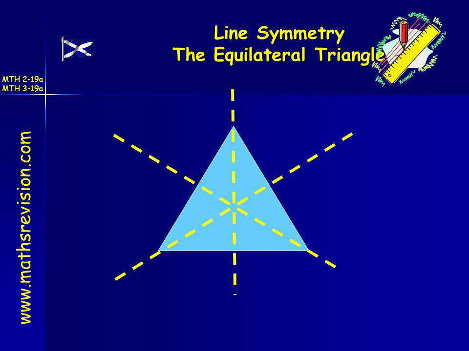 Line Symmetry The Equilateral Triangle