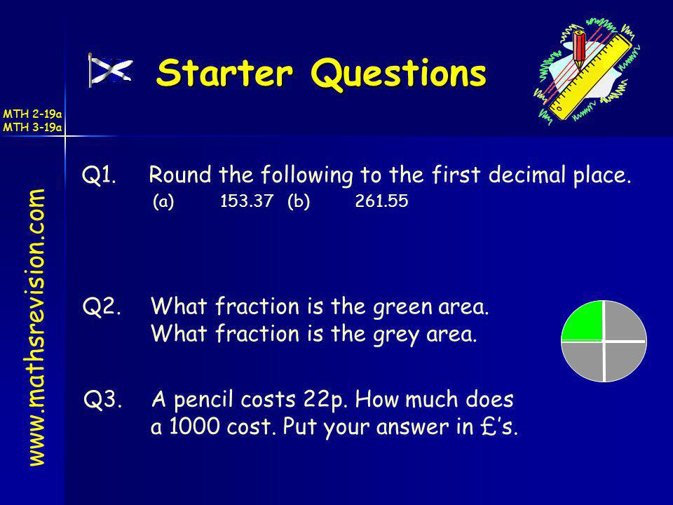 Starter Questions www.mathsrevision.com
