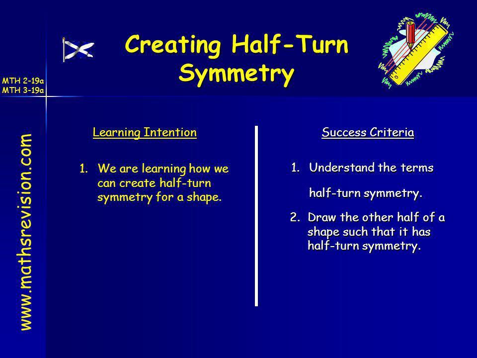 Creating Half-Turn Symmetry