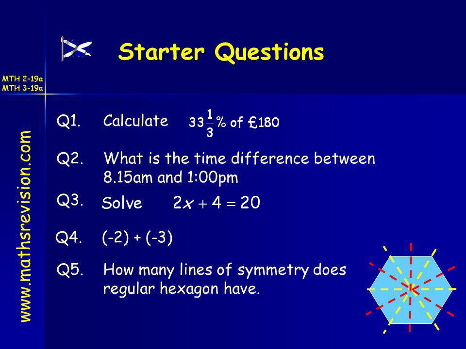 Starter Questions www.mathsrevision.com Q1. Calculate