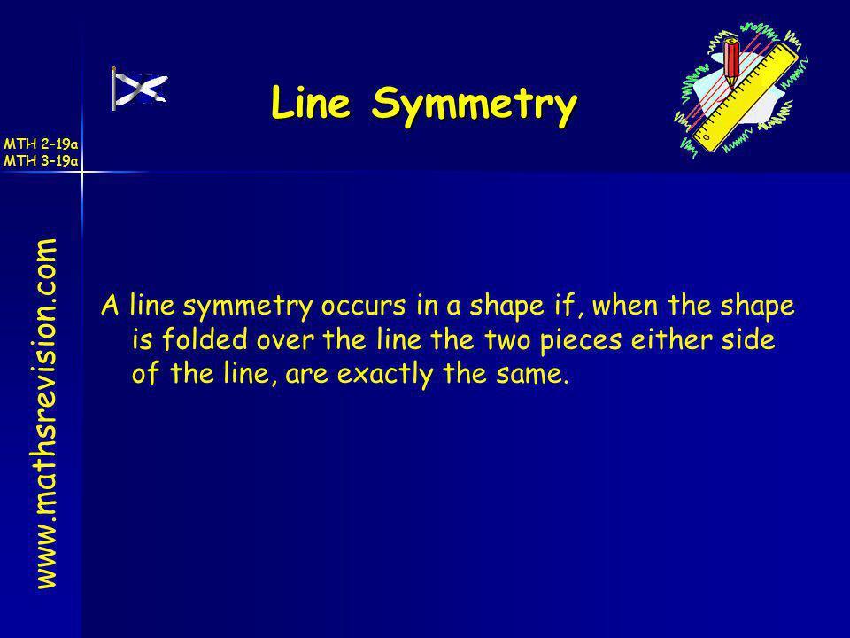 Line Symmetry www.mathsrevision.com