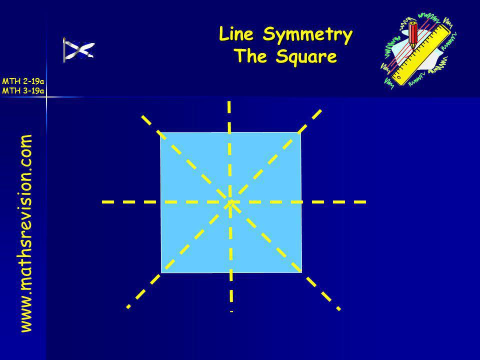 Line Symmetry The Square