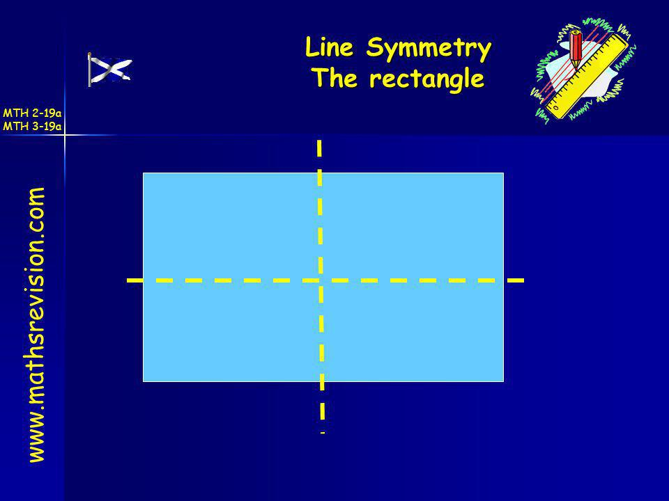 Line Symmetry The rectangle