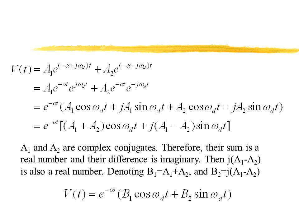 A1 and A2 are complex conjugates