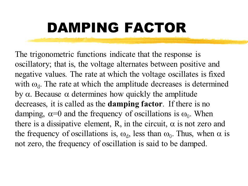 DAMPING FACTOR