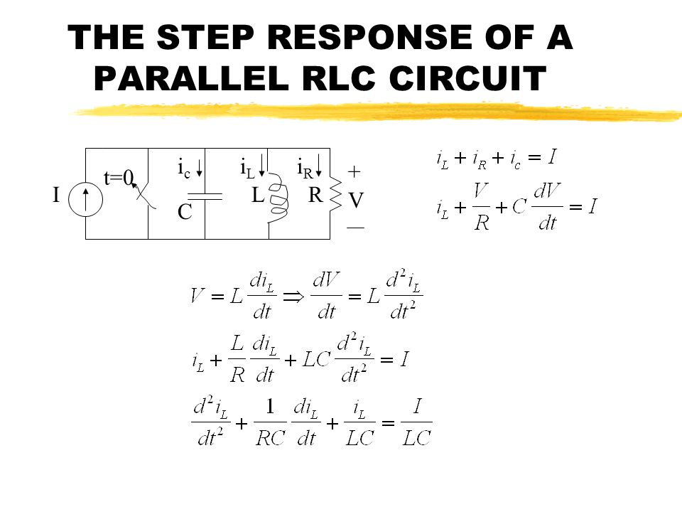 THE STEP RESPONSE OF A PARALLEL RLC CIRCUIT