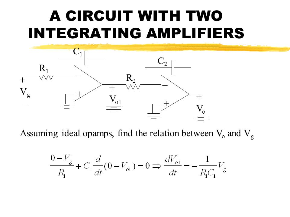 A CIRCUIT WITH TWO INTEGRATING AMPLIFIERS