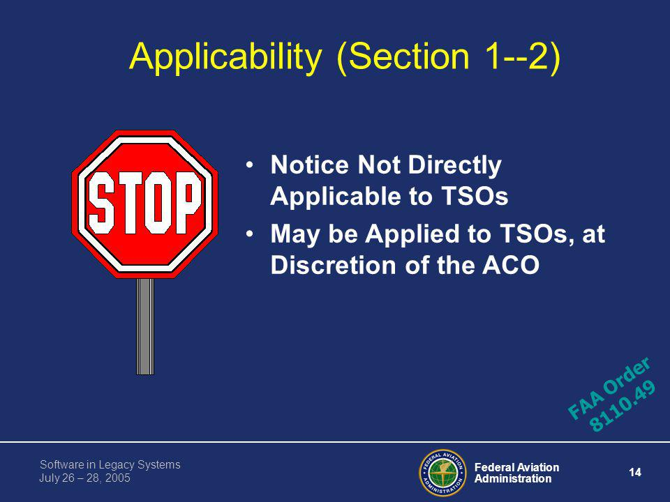 Applicability (Section 1--2)
