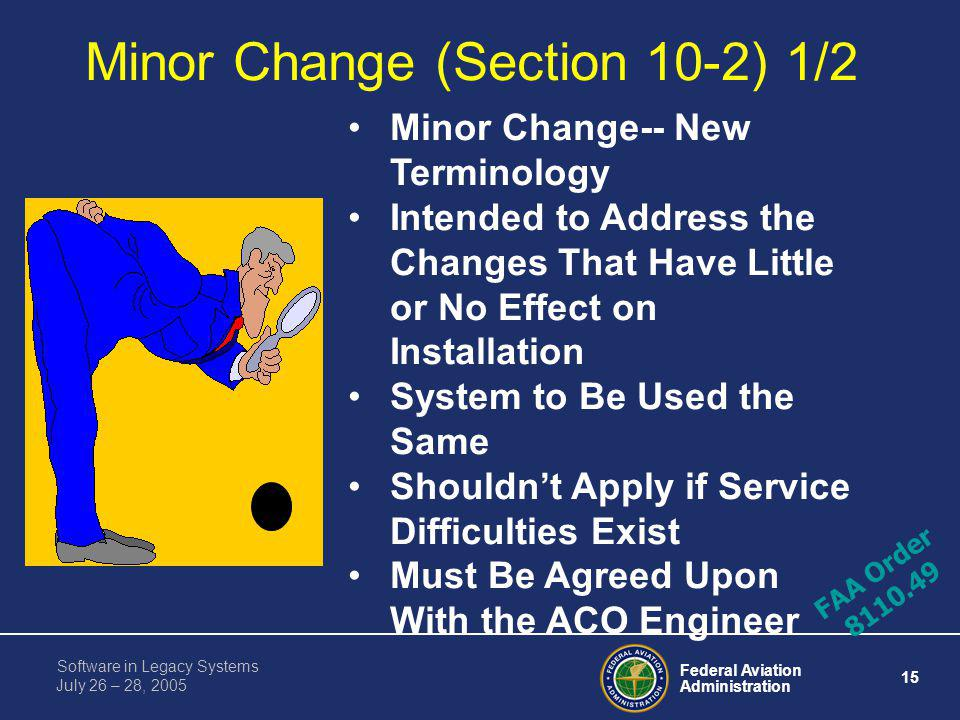 Minor Change (Section 10-2) 1/2