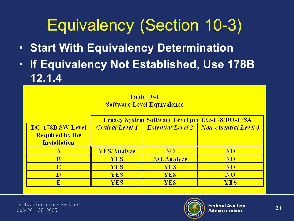 Equivalency (Section 10-3)