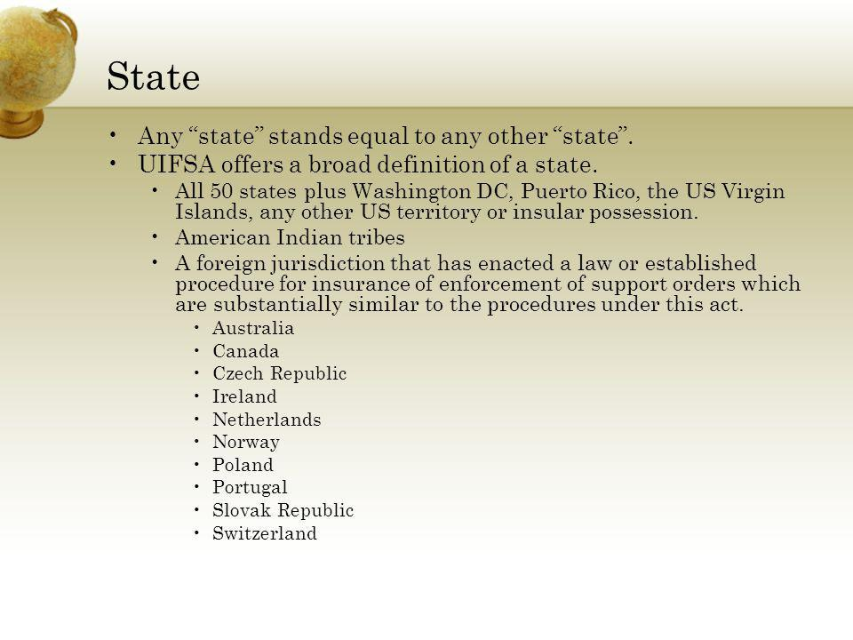 State Any state stands equal to any other state .