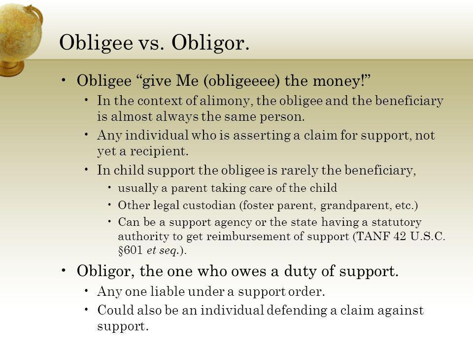 Obligee vs. Obligor. Obligee give Me (obligeeee) the money!