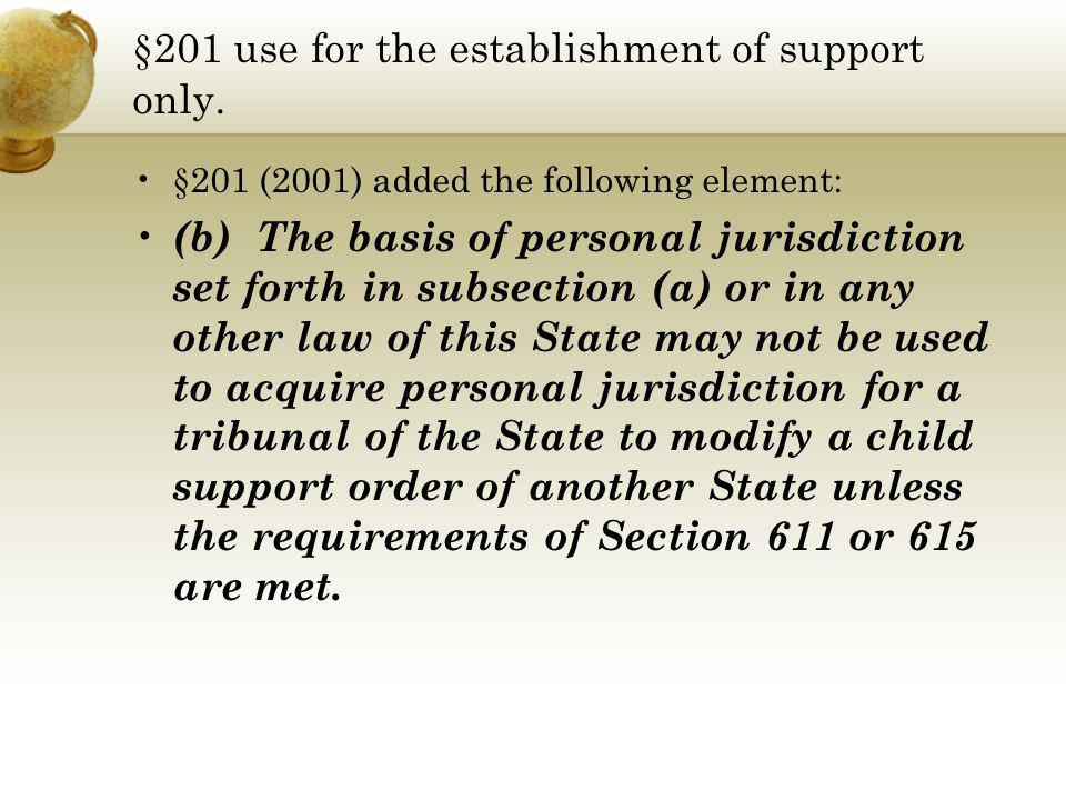 §201 use for the establishment of support only.