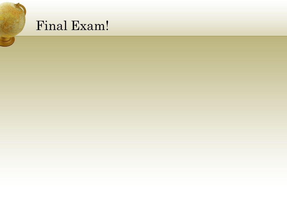Final Exam! Joseph W. Booth -- Nelson & Booth Overland Park, KS 913-469-5300