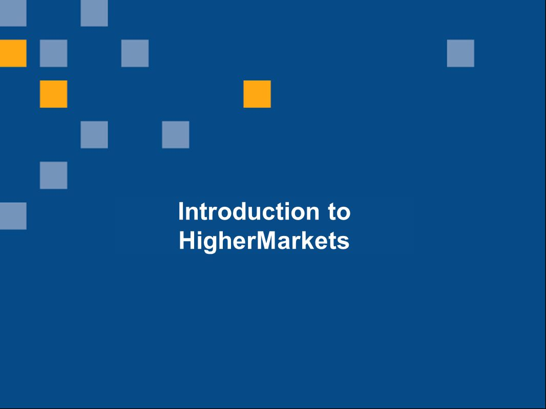 Introduction to HigherMarkets