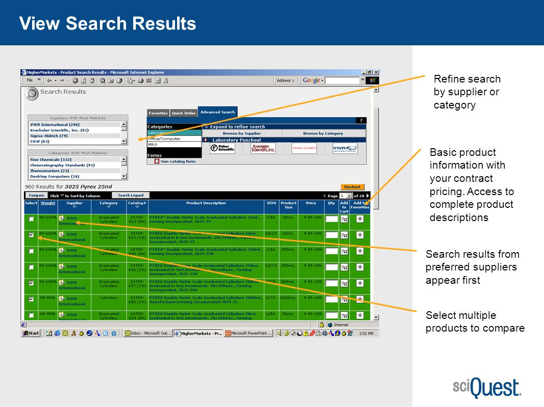 View Search Results Refine search by supplier or category