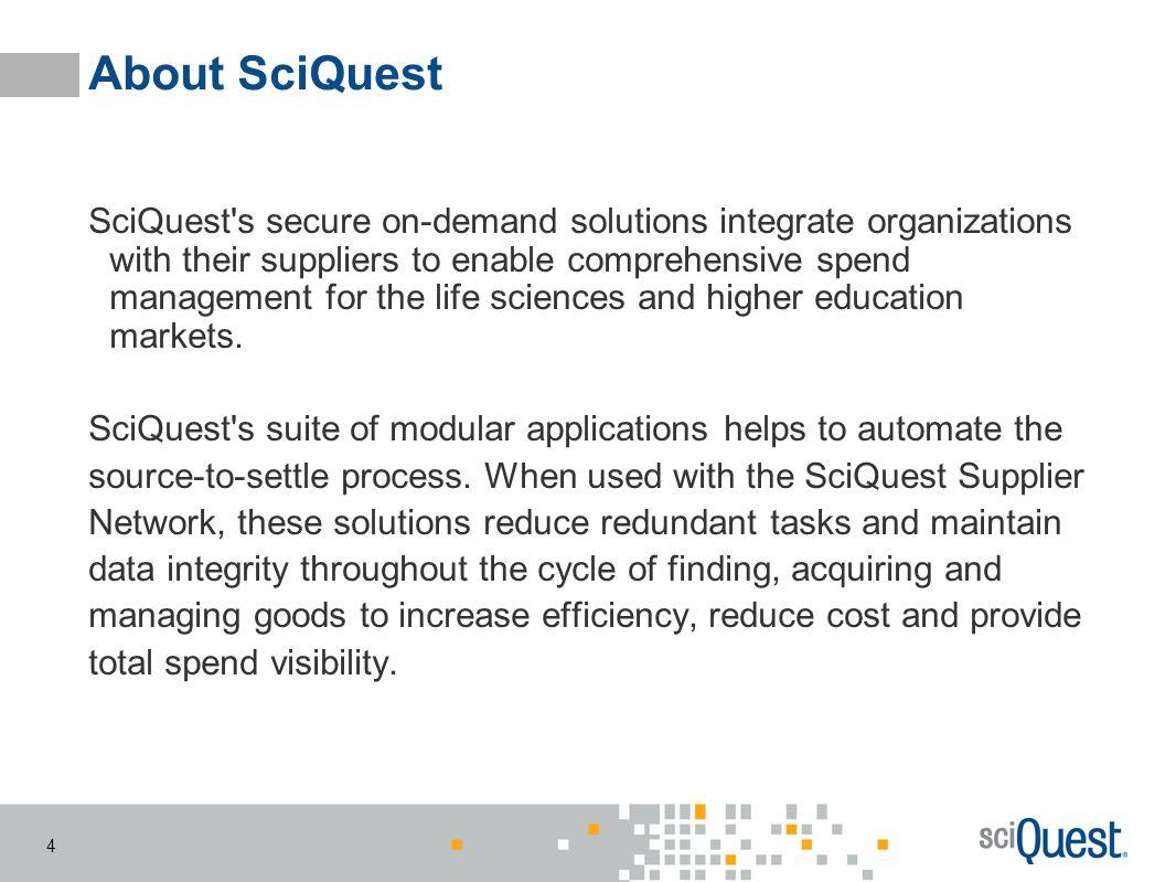 About SciQuest
