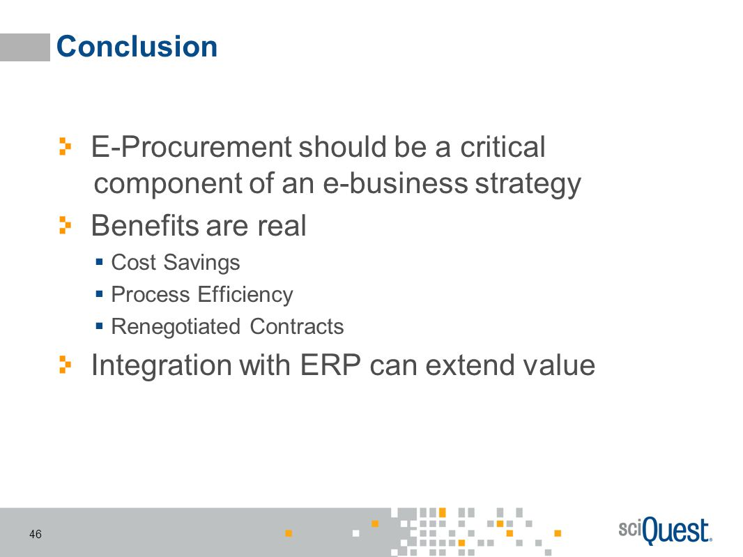 E-Procurement should be a critical component of an e-business strategy