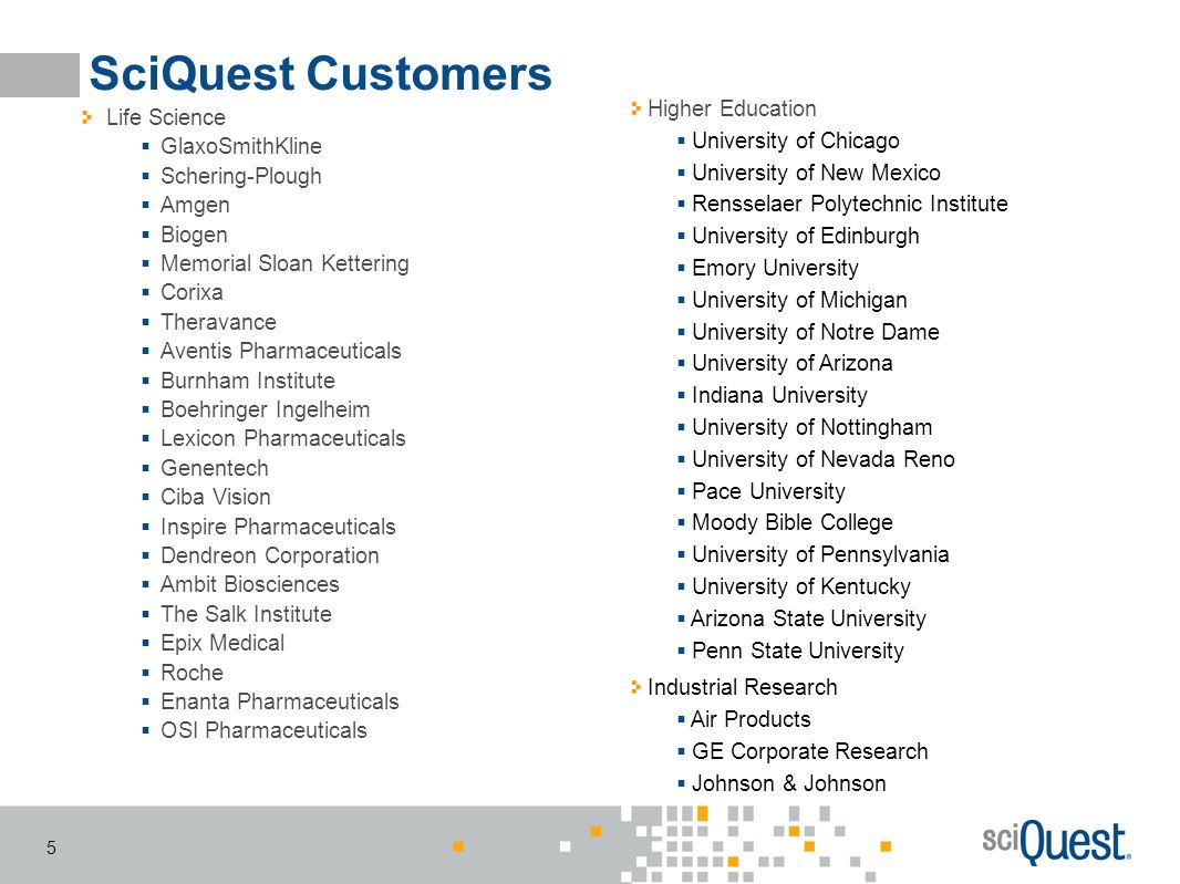 SciQuest Customers Higher Education University of Chicago