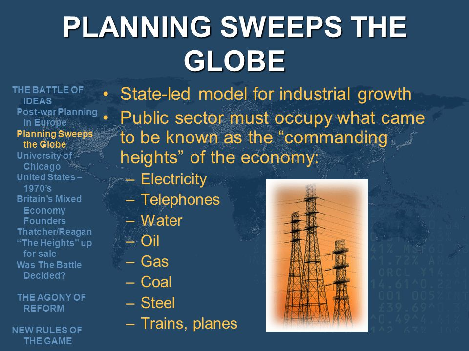 PLANNING SWEEPS THE GLOBE