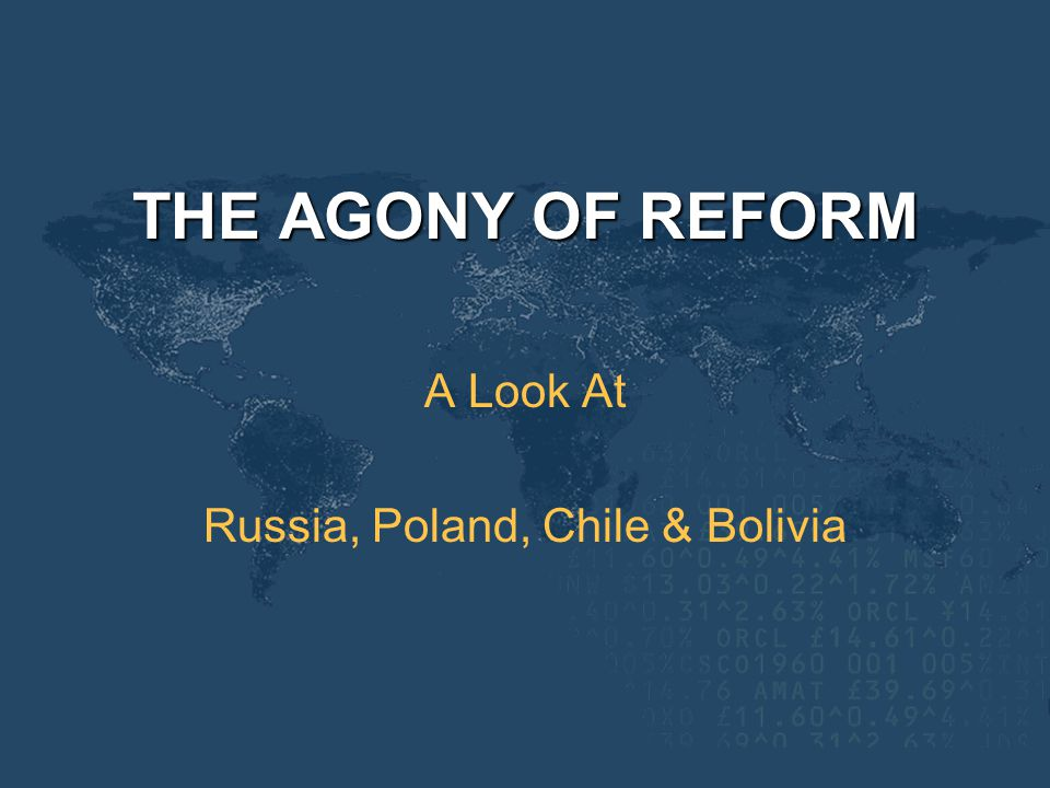 A Look At Russia, Poland, Chile & Bolivia