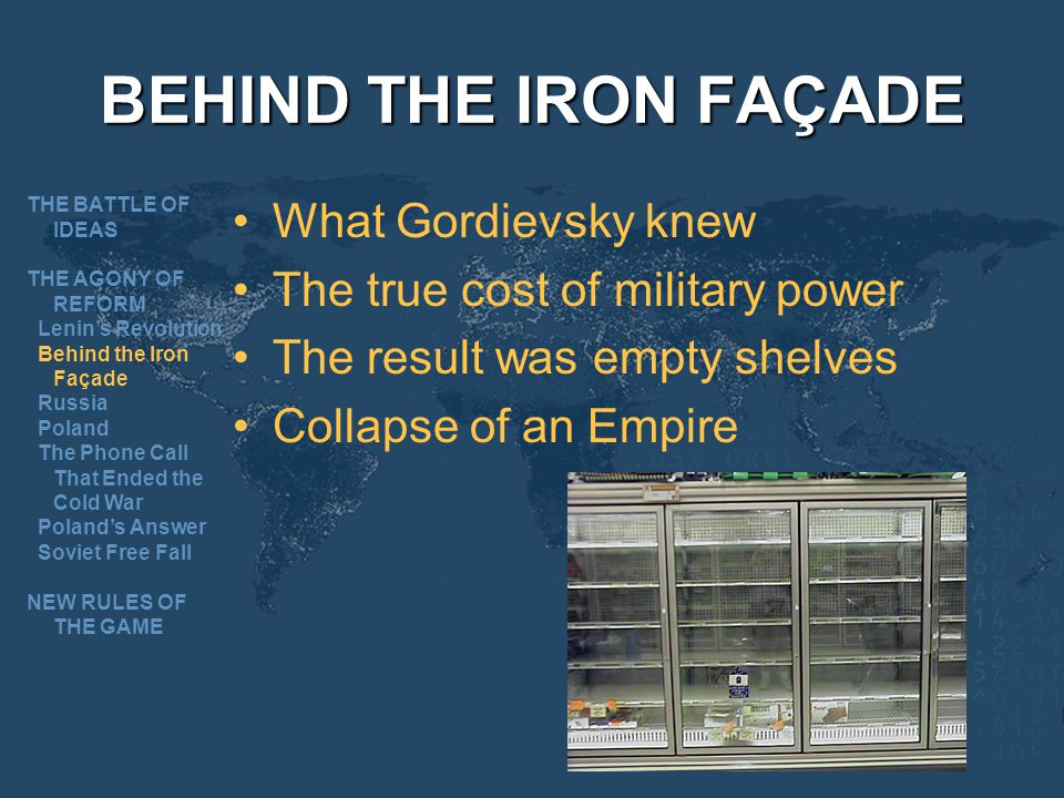BEHIND THE IRON FAÇADE What Gordievsky knew