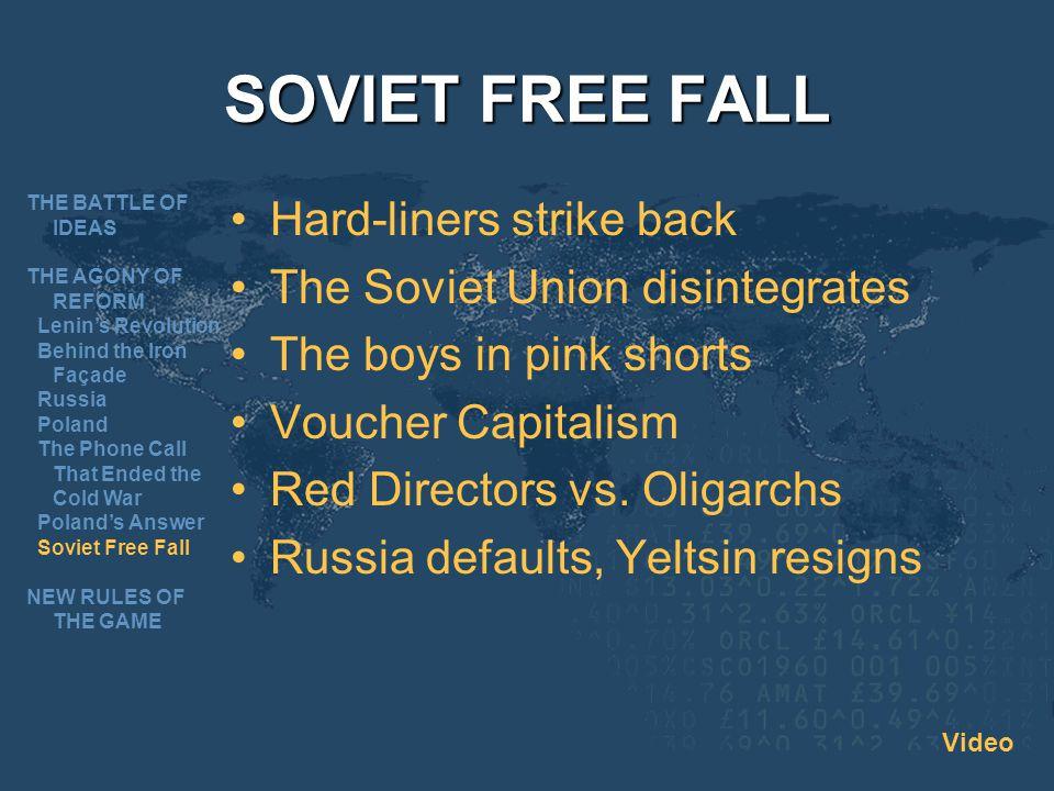 SOVIET FREE FALL Hard-liners strike back