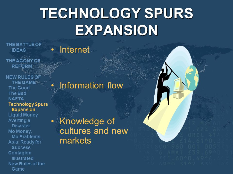 TECHNOLOGY SPURS EXPANSION