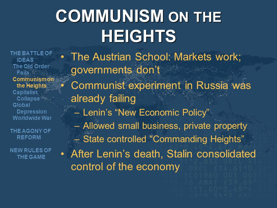COMMUNISM ON THE HEIGHTS