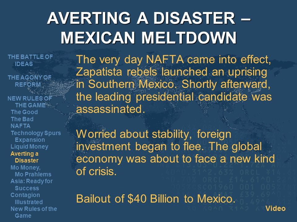 AVERTING A DISASTER – MEXICAN MELTDOWN