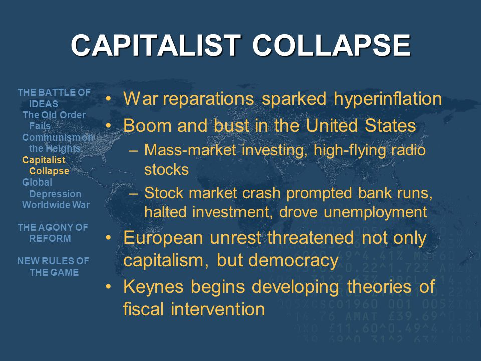 CAPITALIST COLLAPSE War reparations sparked hyperinflation