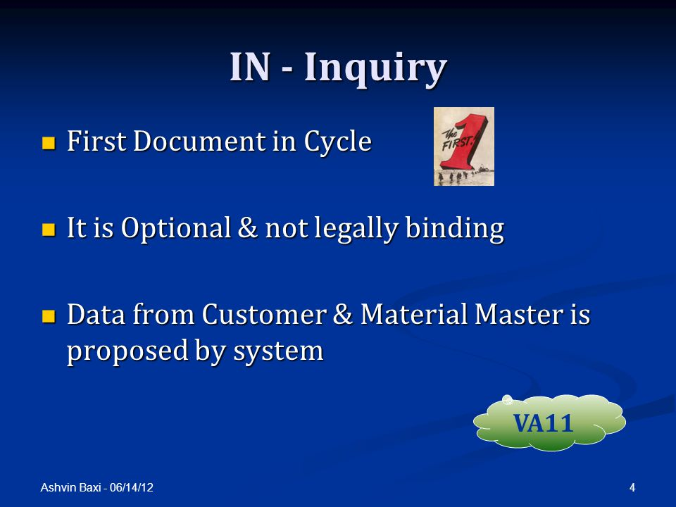 IN - Inquiry First Document in Cycle
