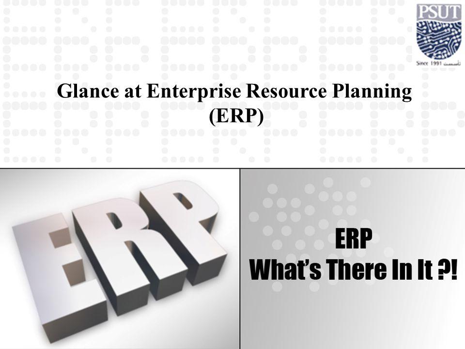 Glance at Enterprise Resource Planning