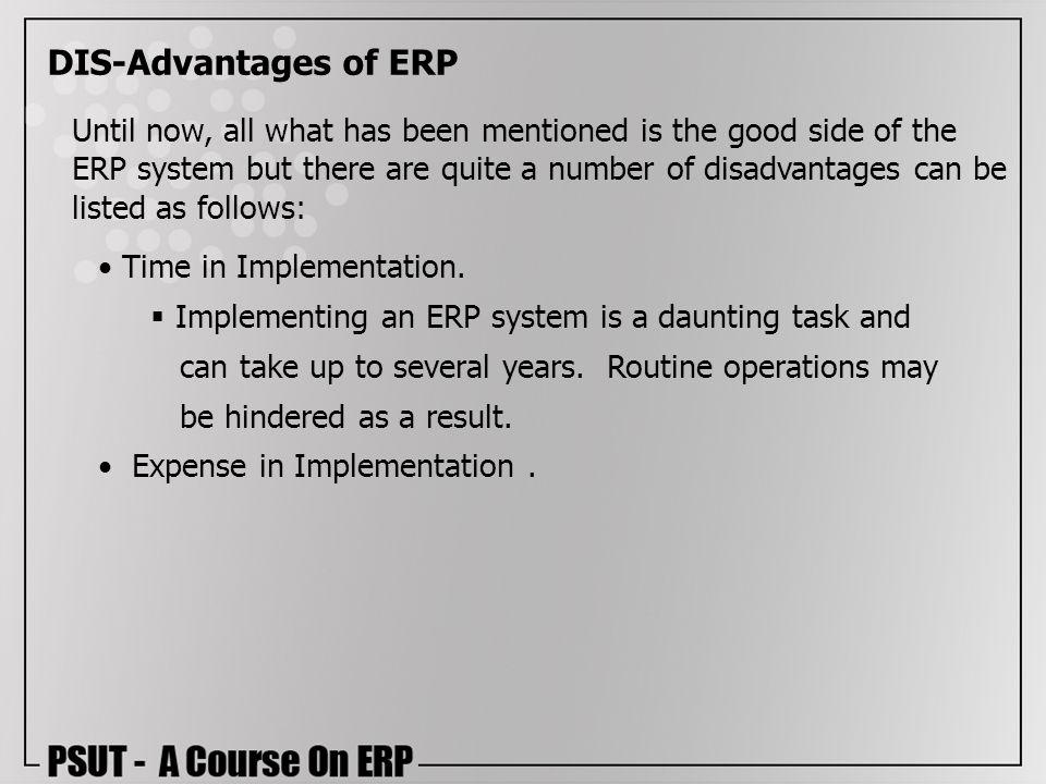 DIS-Advantages of ERP