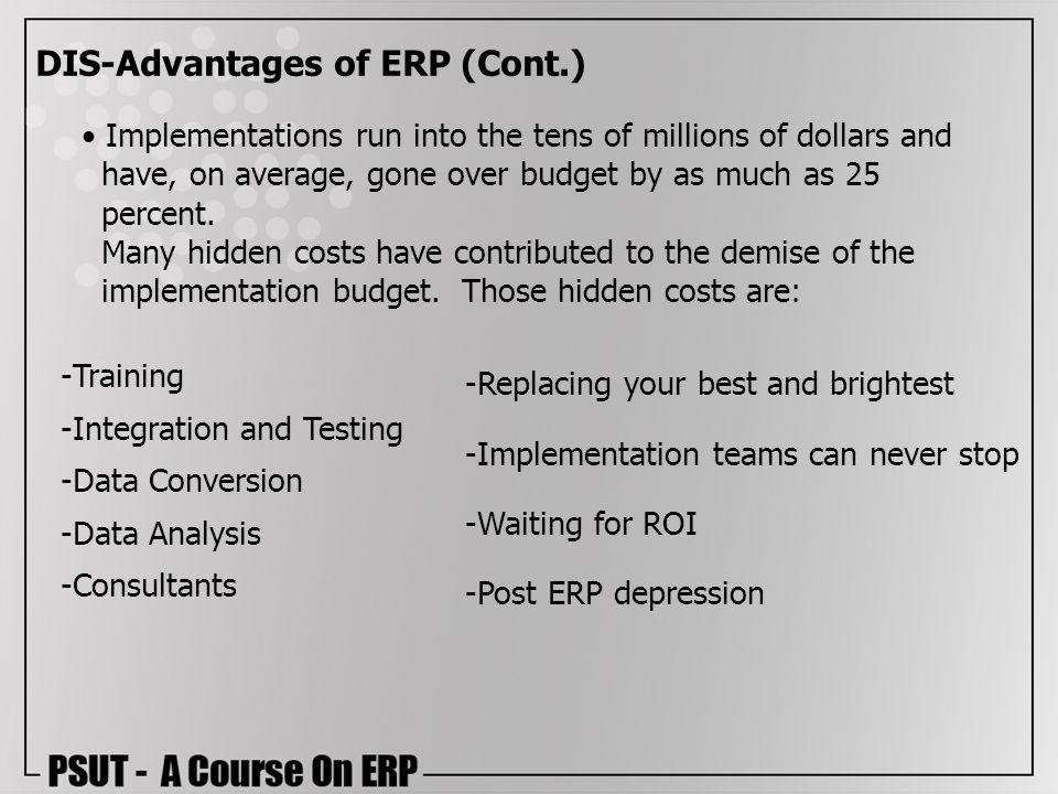 DIS-Advantages of ERP (Cont.)