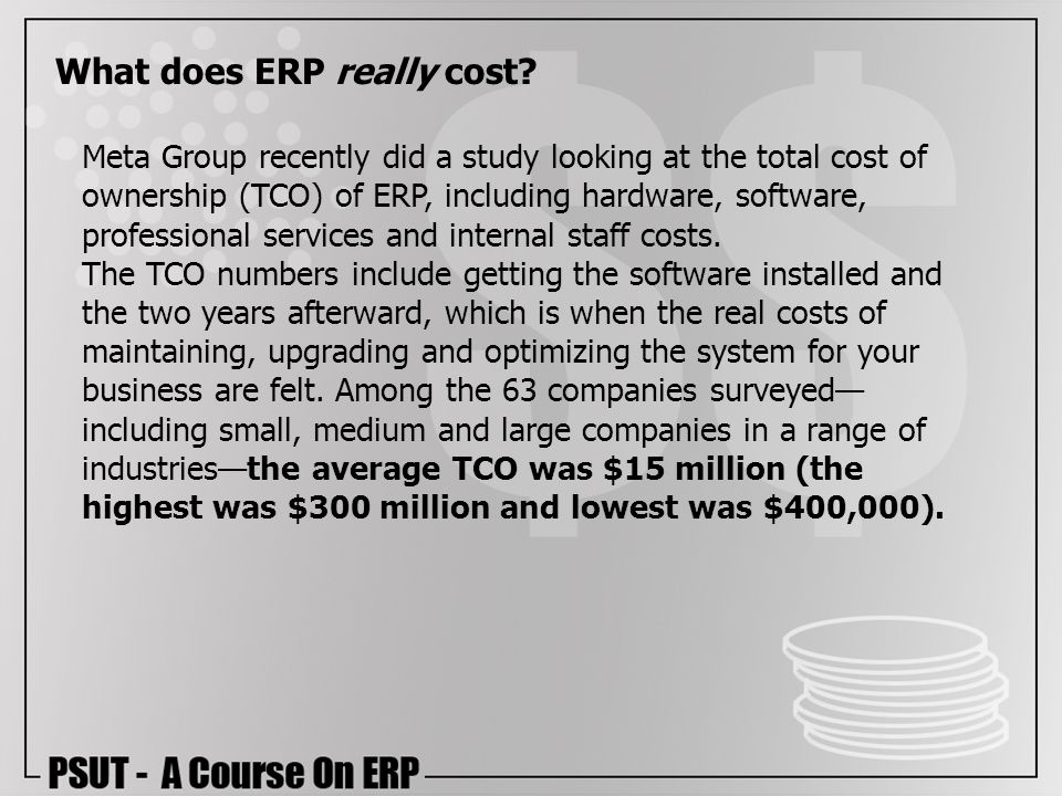 What does ERP really cost